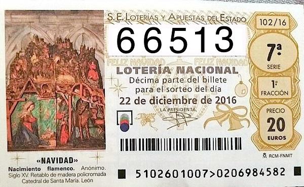 Билет Navidad El Gordo