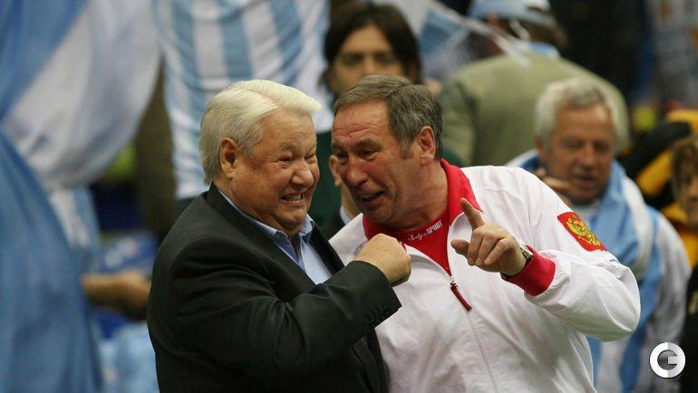 Борис Ельцин и Шамиль Тарпищев