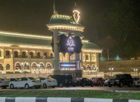 Вечернее освещение казино. Фото: пресс-служба «Сочи Казино и Курорт»