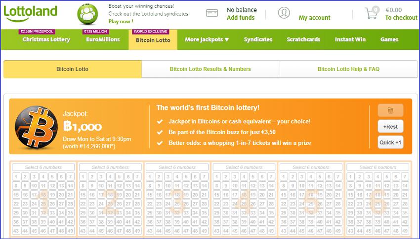 скрин сайта LottoLand.com