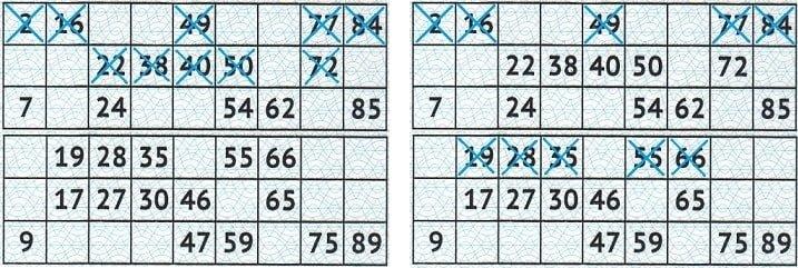 Игровое поле жилищной лотереи - примеры билетов выигравших джекпот