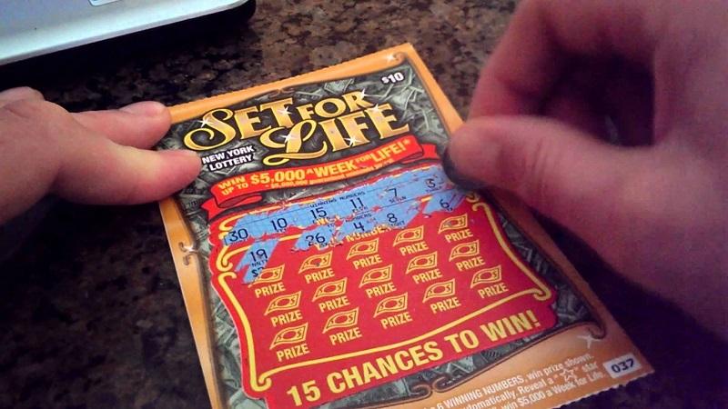 Лотерейный билет Set for Life
