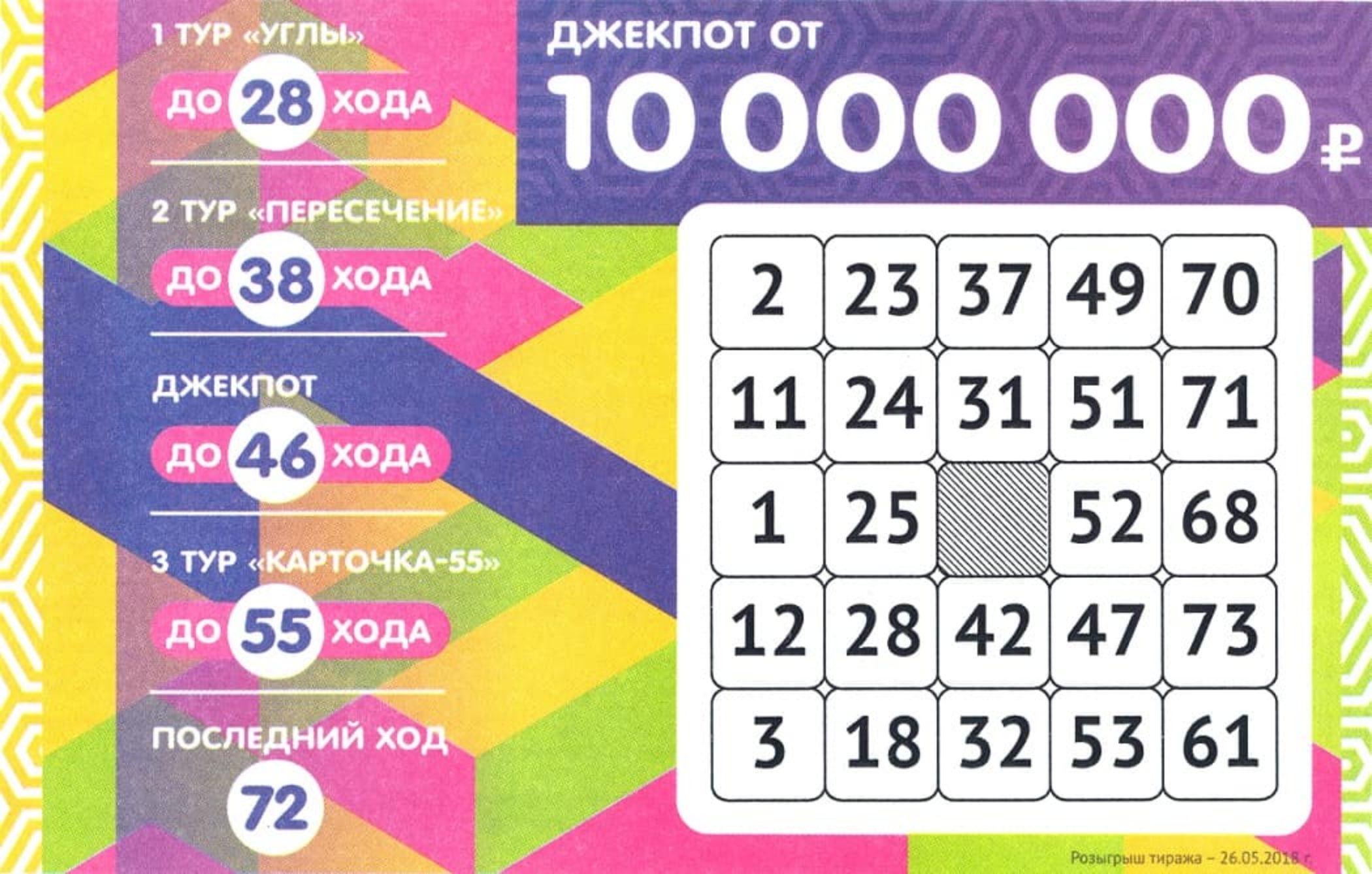 сколько в джекпоте лотерея