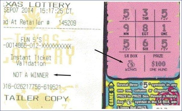 Пример билета с денежным мешком