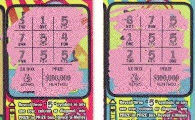Примеры лотерейных билетов