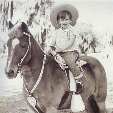 Лес Робинс в детстве