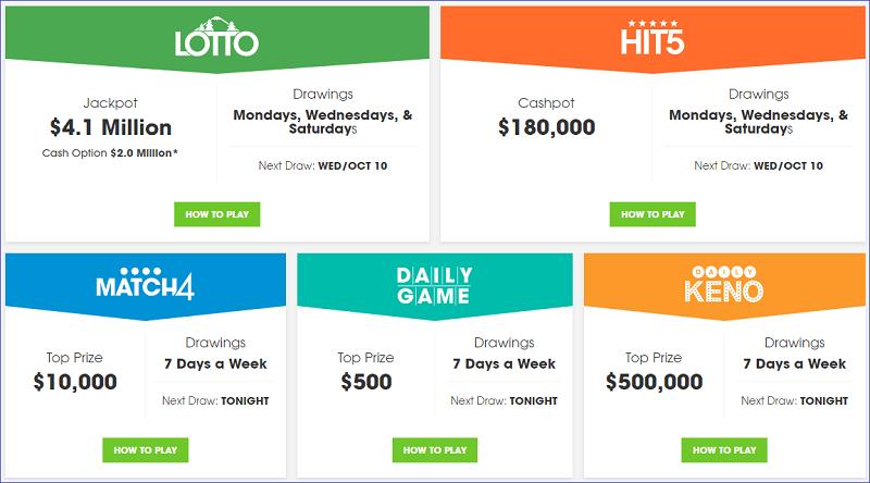 Числовые лотереи штата Вашингтон