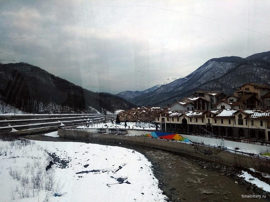 Река Мзымта, вид сверху