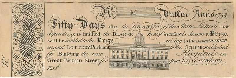 Лотерейный билет 1753 года