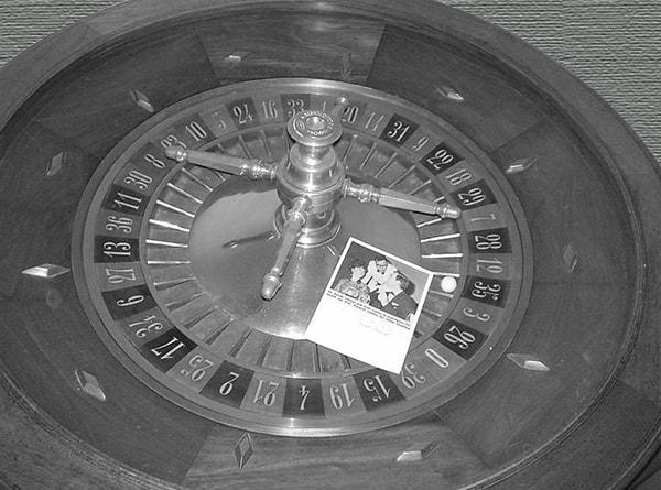 Колесо рулетки, на котором играл Джареки в 60-х годах (Тюрингер)