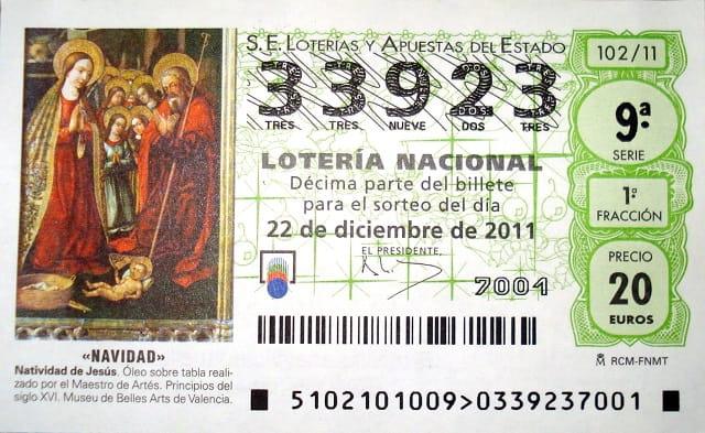 Билет лотереи El Gordo de Navidad