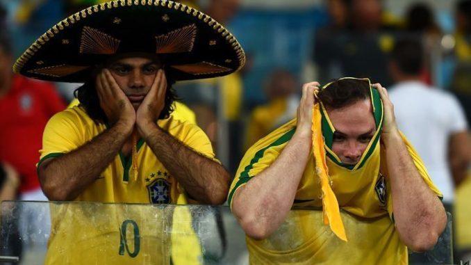Болельщики Бразилии в шоке