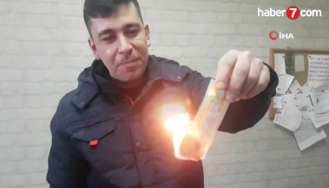 Турецкий рабочий сжег свой выигрышный билет