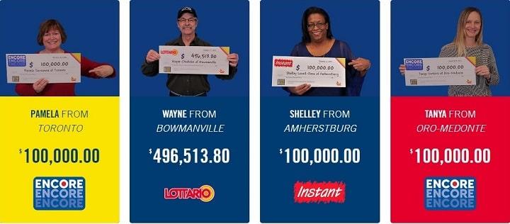 Фотографии лотерейных победителей
