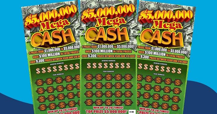 Билеты моментальной лотереи Mega Cash