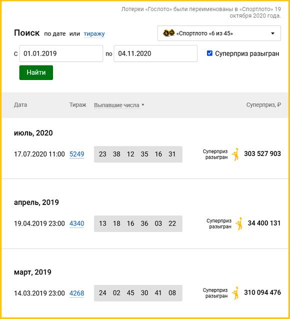 """В 2019 """"шестерку"""" брали всего дважды"""
