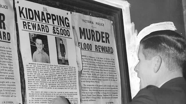 Объявление, рассказывающее о похищении мальчика