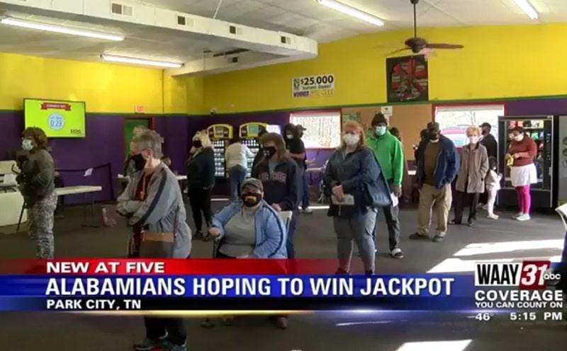 Очередь за лотерейными билетами в Теннесси
