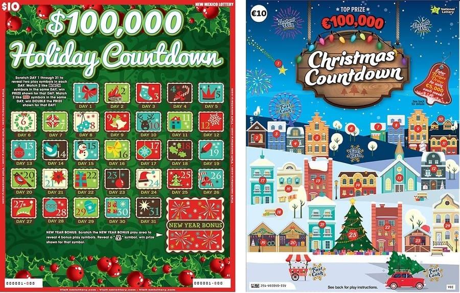 Примеры лотерейных адвент-календарей в других странах