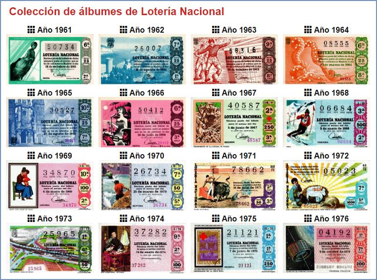 Коллекция билетов Национальной лотереи Испании